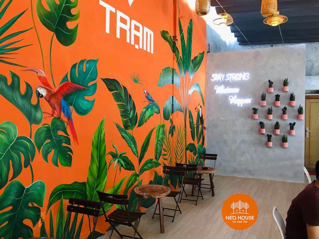 Hình thực tế thi công hoàn thiện quán cafe sân vườn đơn giản. Ảnh 12