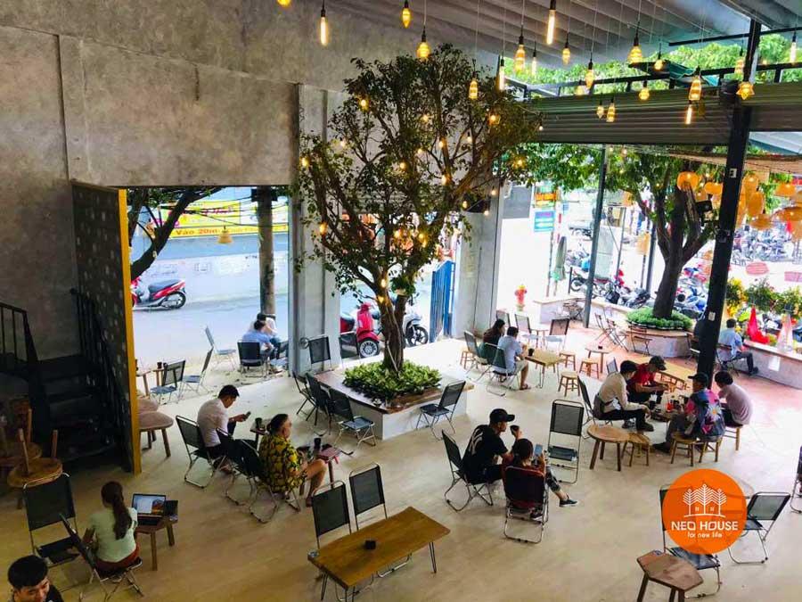 Hình thực tế thi công hoàn thiện quán cafe sân vườn đơn giản. Ảnh 14