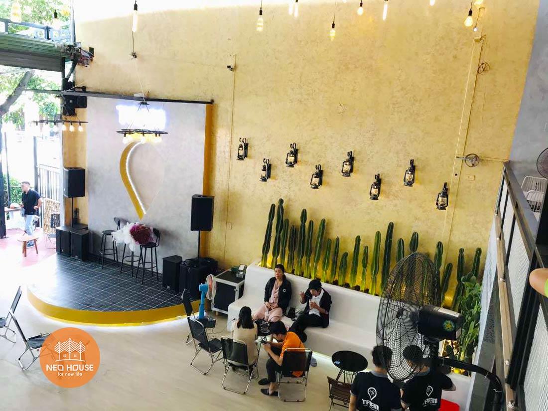 Hình thực tế thi công hoàn thiện quán cafe sân vườn đơn giản. Ảnh 15