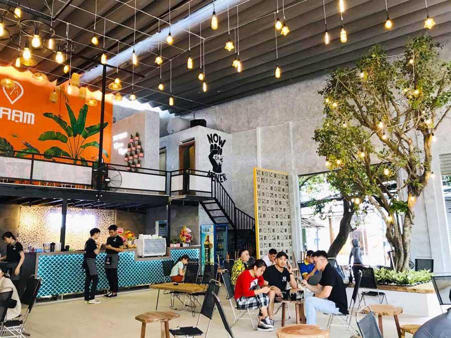 Hình thực tế thi công hoàn thiện quán cafe sân vườn đơn giản. Ảnh 5