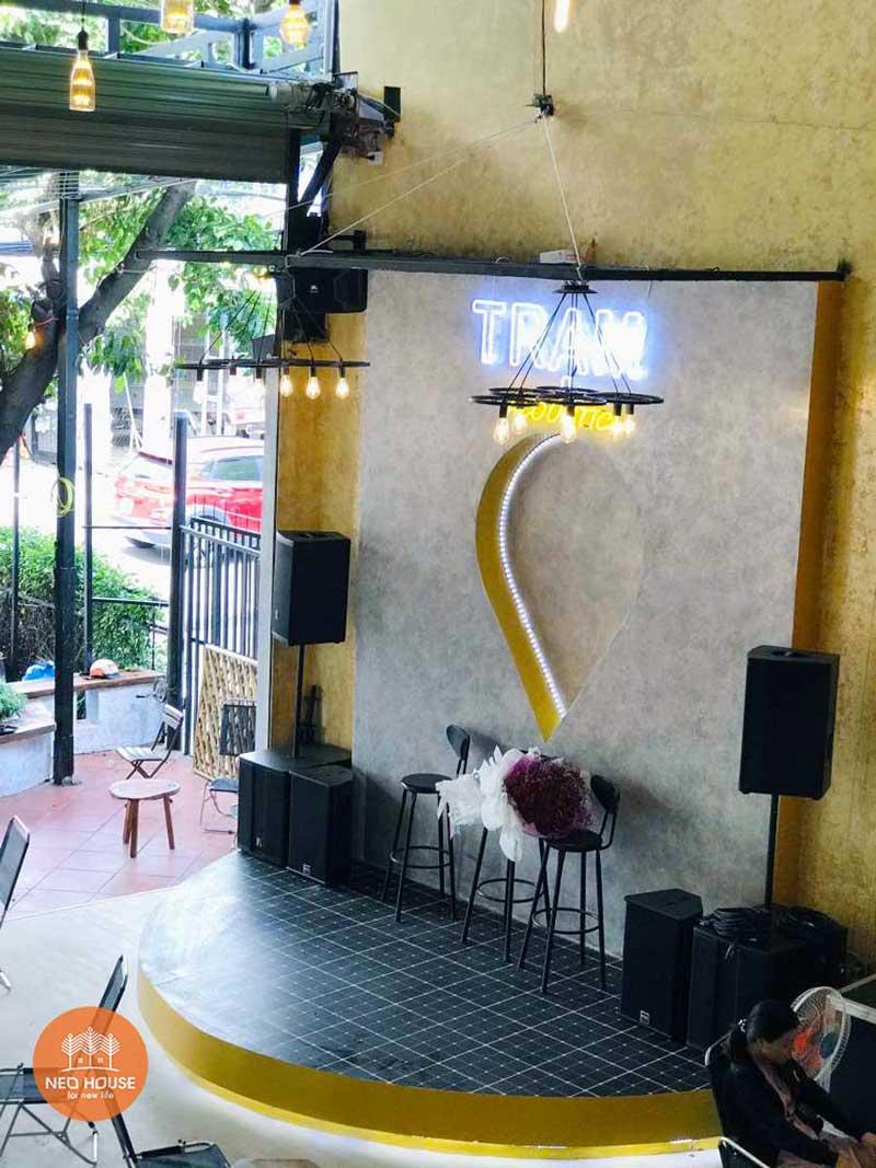Hình thực tế thi công hoàn thiện quán cafe sân vườn đơn giản. Ảnh 8