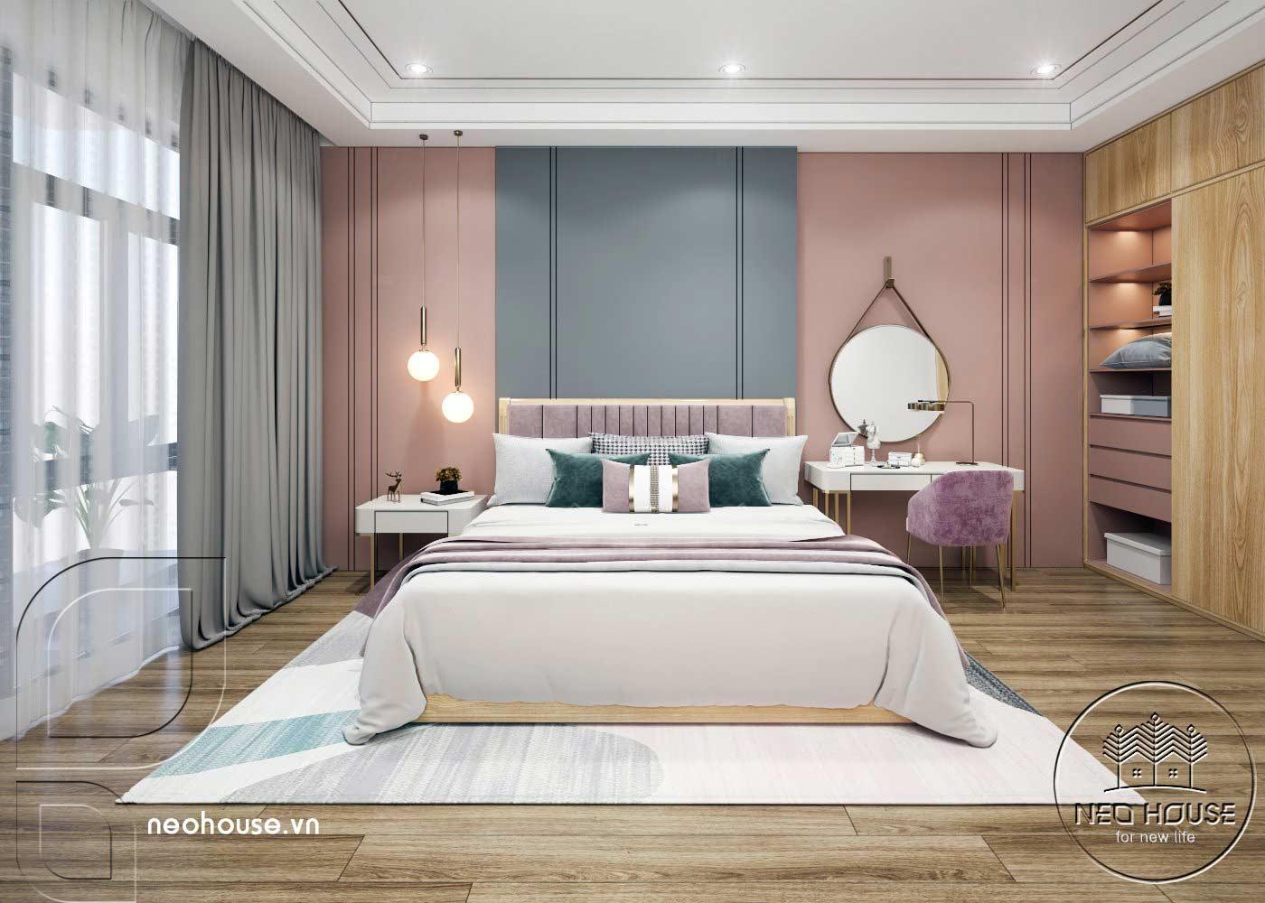 Thiết kế thi công cải tạo nhà phố 3 tầng với không gian nội thất phòng ngủ Master 02. Ảnh 1
