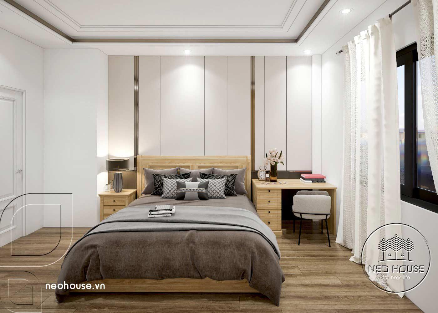 Thiết kế thi công cải tạo nhà phố 3 tầng với không gian nội thất phòng ngủ 03. Ảnh 1