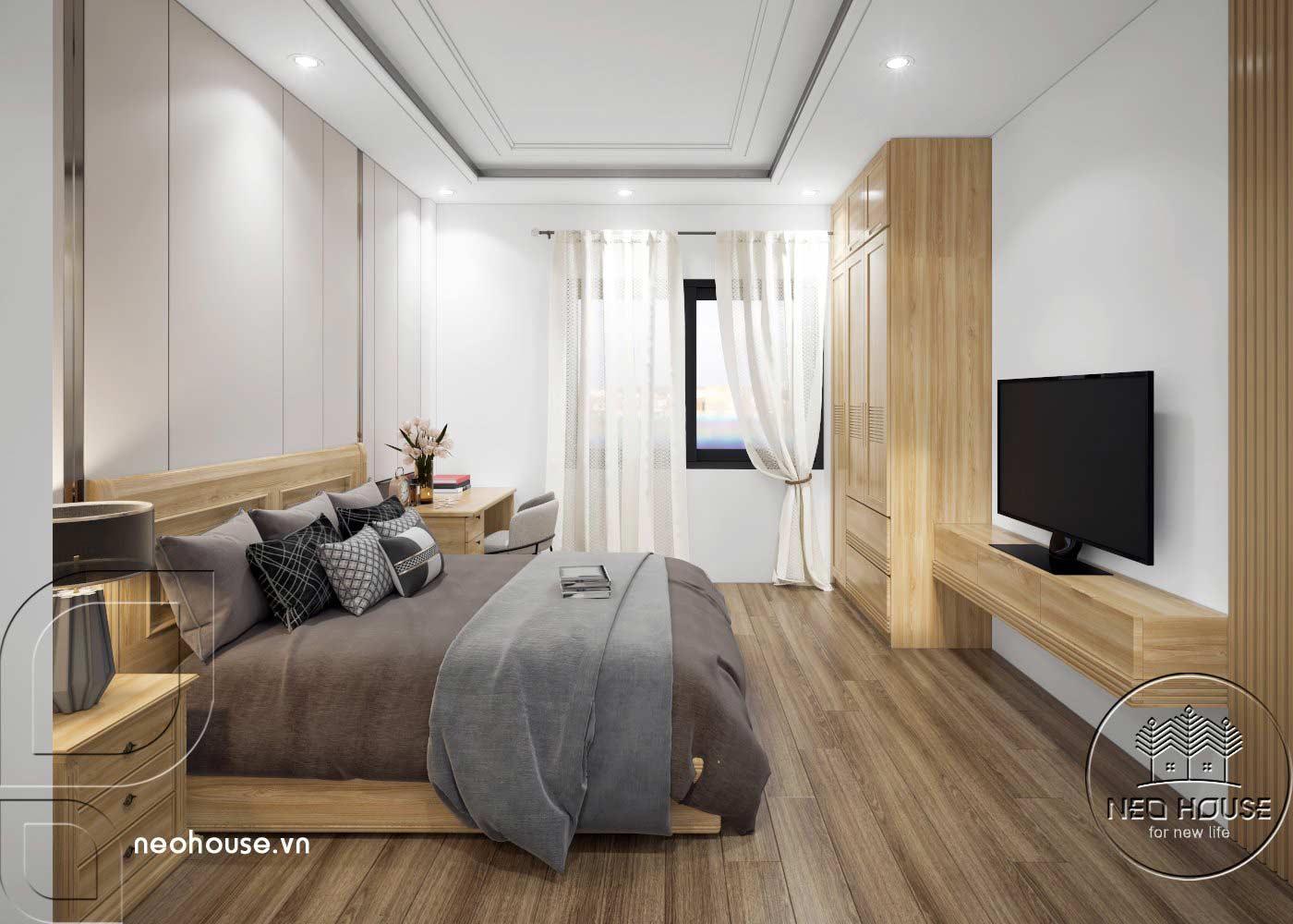 Thiết kế thi công cải tạo nhà phố 3 tầng với không gian nội thất phòng ngủ 03. Ảnh 2