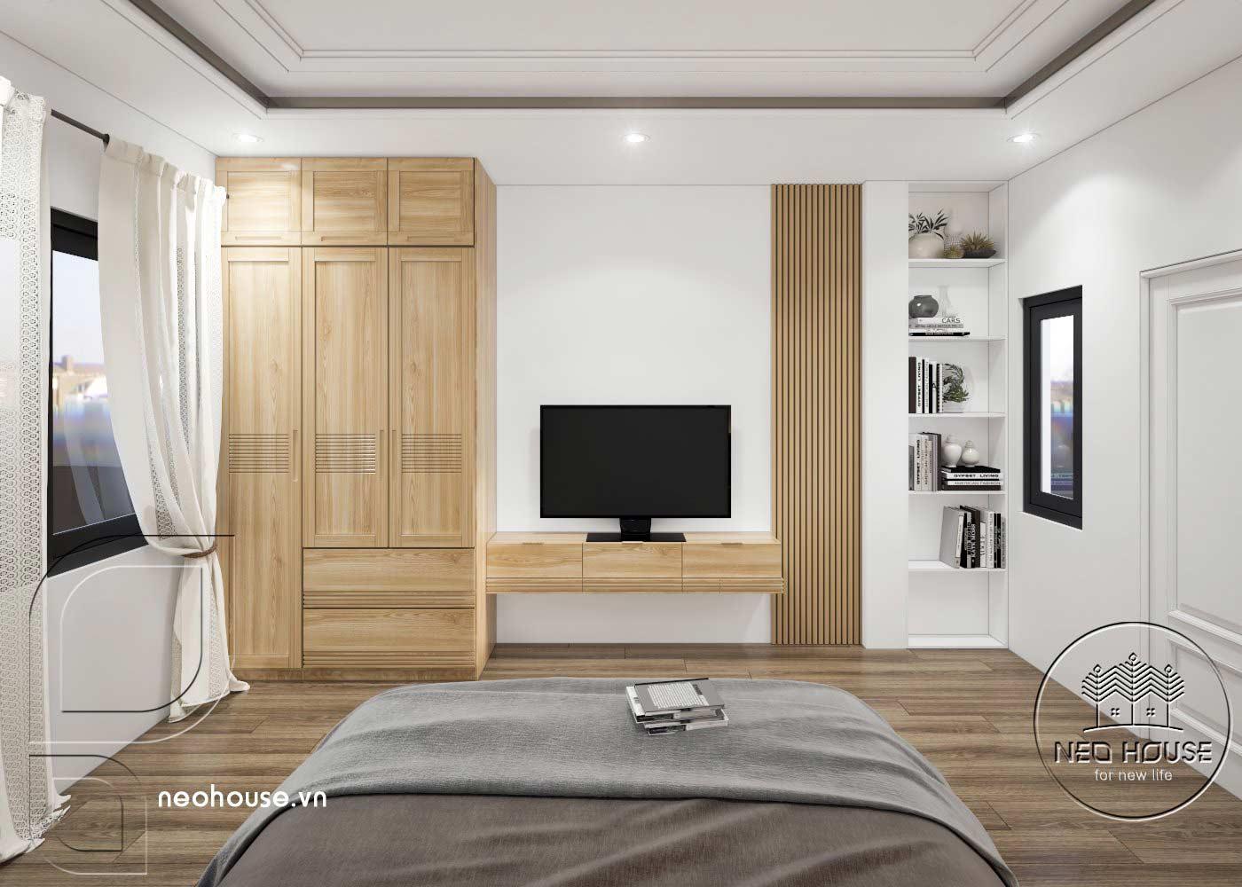 Thiết kế thi công cải tạo nhà phố 3 tầng với không gian nội thất phòng ngủ 03. Ảnh 3