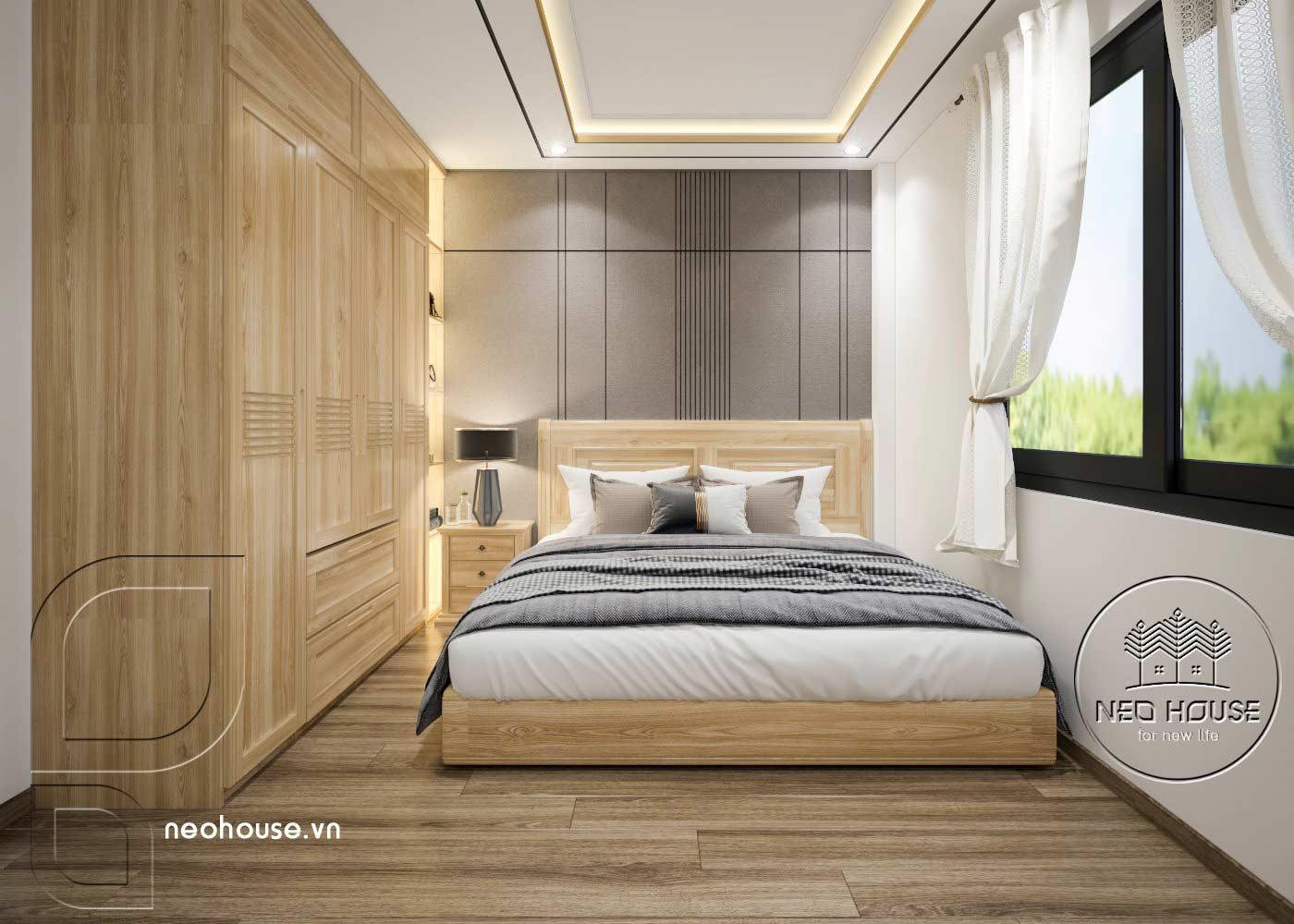 Thiết kế thi công cải tạo nhà phố 3 tầng với không gian nội thất phòng ngủ 04. Ảnh 1