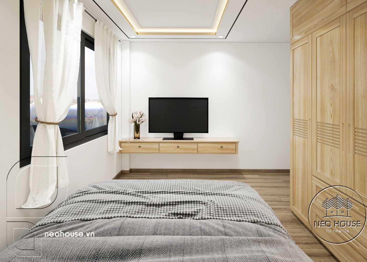 Thiết kế thi công cải tạo nhà phố 3 tầng với không gian nội thất phòng ngủ 04. Ảnh 2