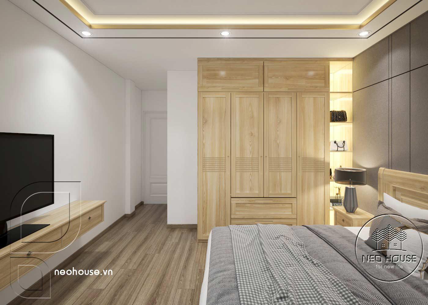 Thiết kế thi công cải tạo nhà phố 3 tầng với không gian nội thất phòng ngủ 04. Ảnh 3