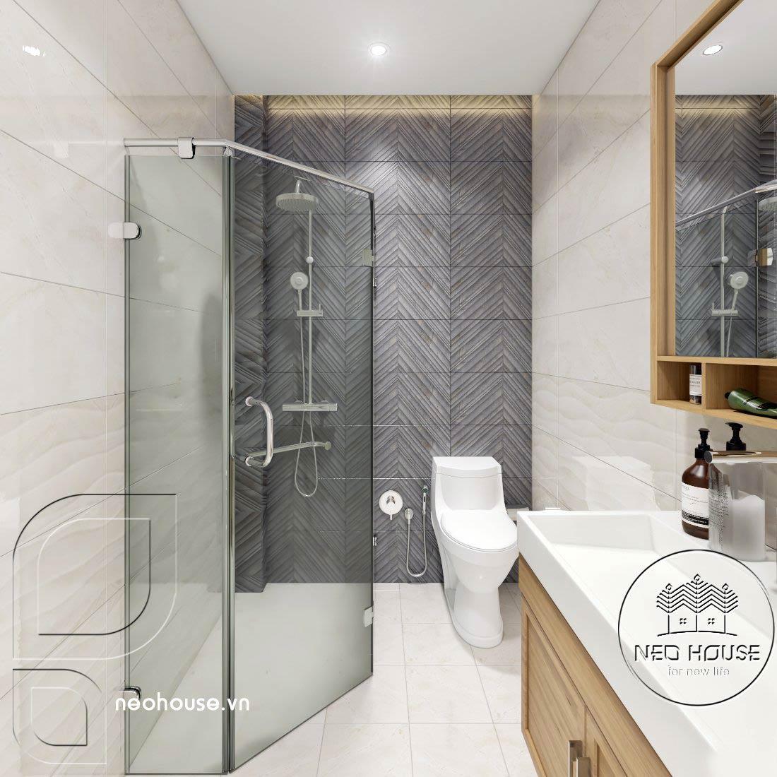 Thiết kế thi công cải tạo nhà phố 3 tầng với không gian nội thất phòng vệ sinh Master 02. Ảnh 1