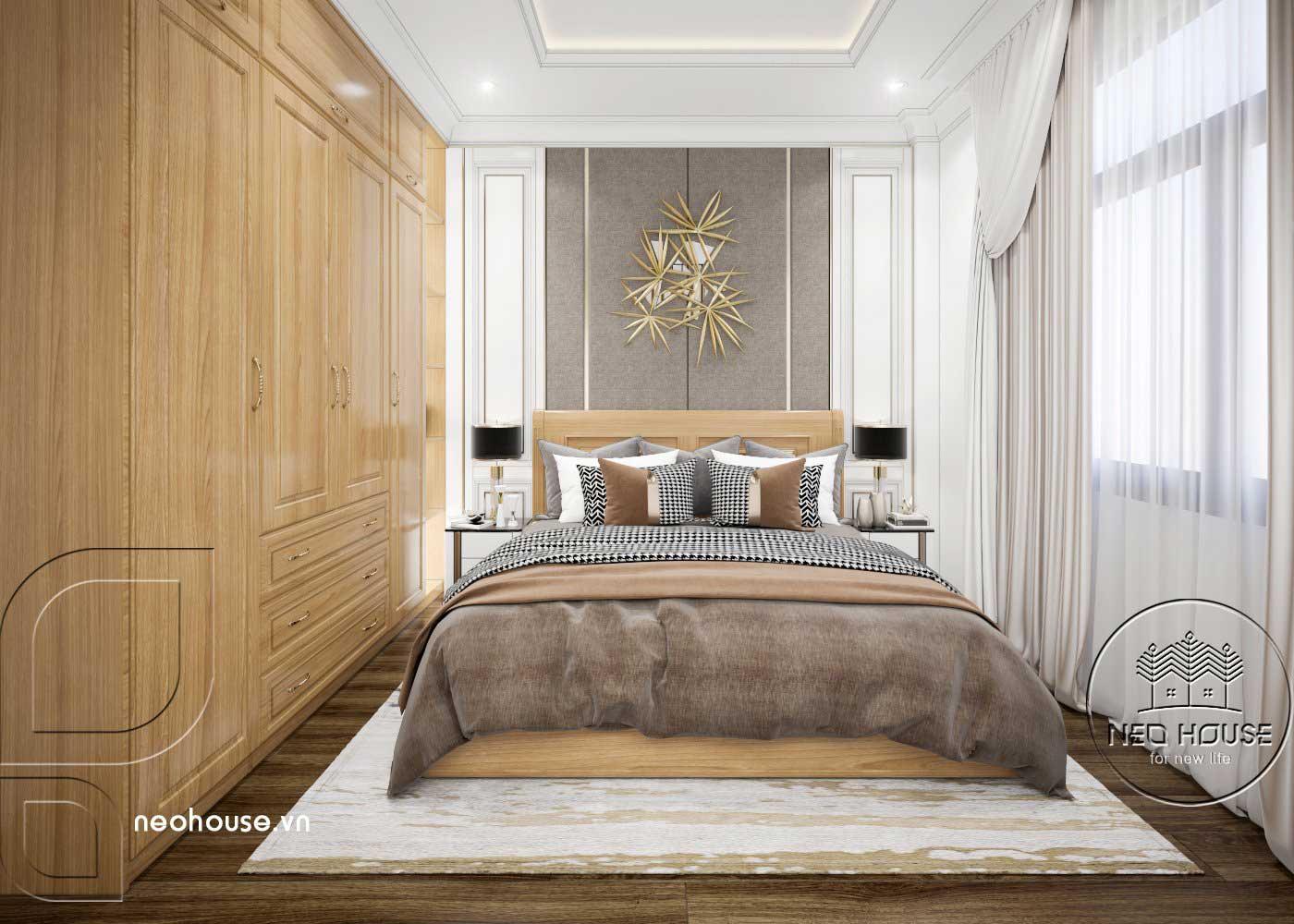 Thiết kế thi công cải tạo nhà phố 3 tầng với không gian nội thất phòng ngủ Master 01. Ảnh 1