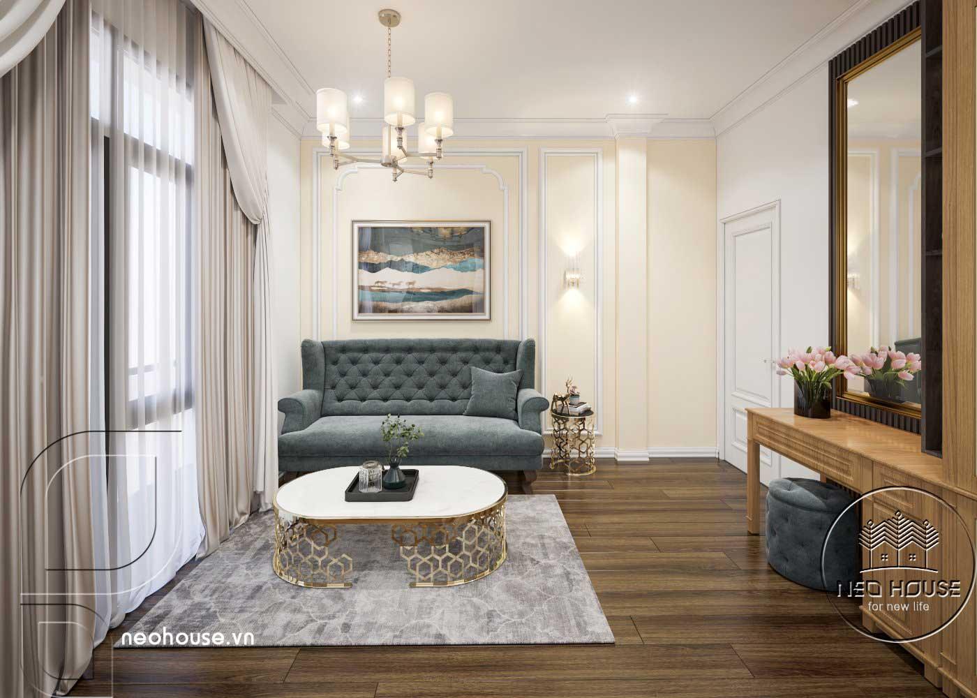 Thiết kế thi công cải tạo nhà phố 3 tầng với không gian nội thất phòng ngủ Master 01. Ảnh 3