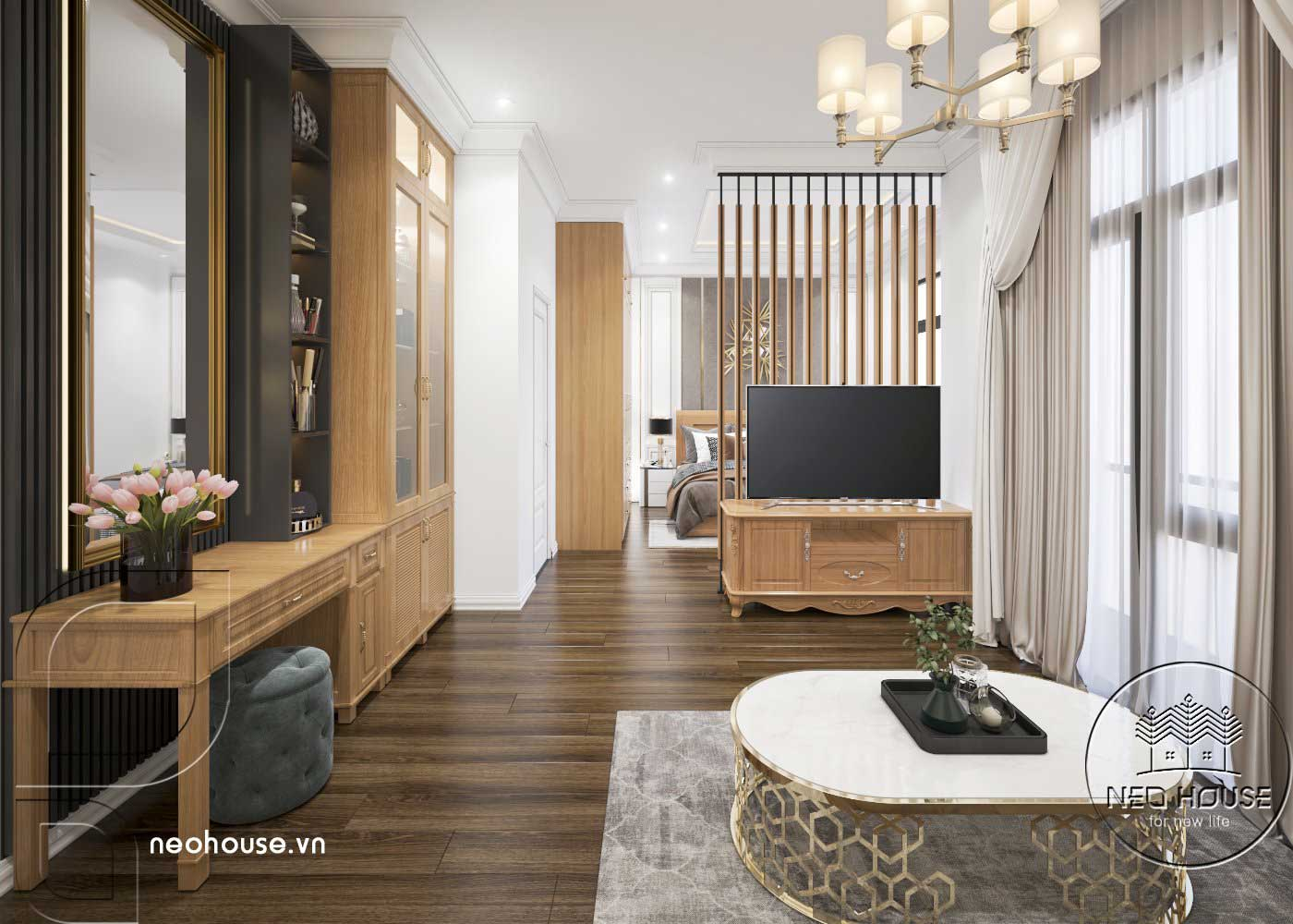 Thiết kế thi công cải tạo nhà phố 3 tầng với không gian nội thất phòng ngủ Master 01. Ảnh 4