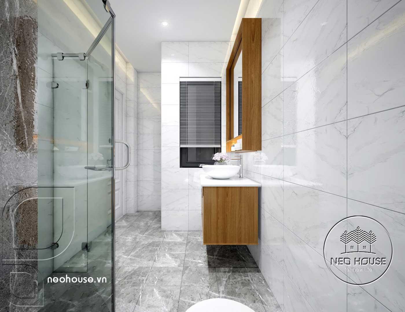 Thiết kế thi công cải tạo nhà phố 3 tầng với không gian nội thất phòng vệ sinh Master 01. Ảnh 1