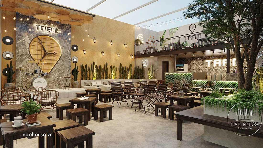 Thiết kế quán cafe sân vườn đơn giản. Ảnh 3