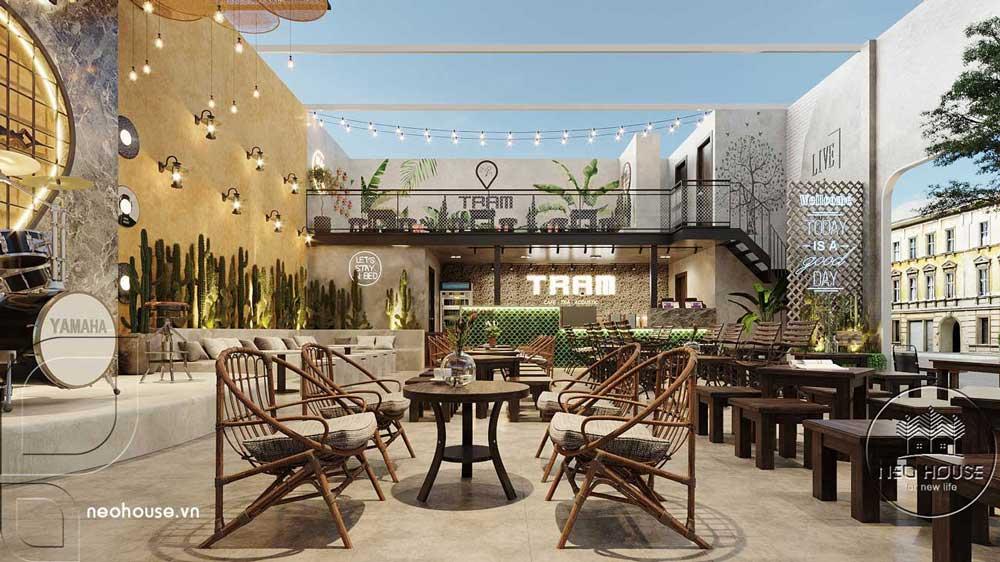 Thiết kế quán cafe sân vườn đơn giản. Ảnh 4