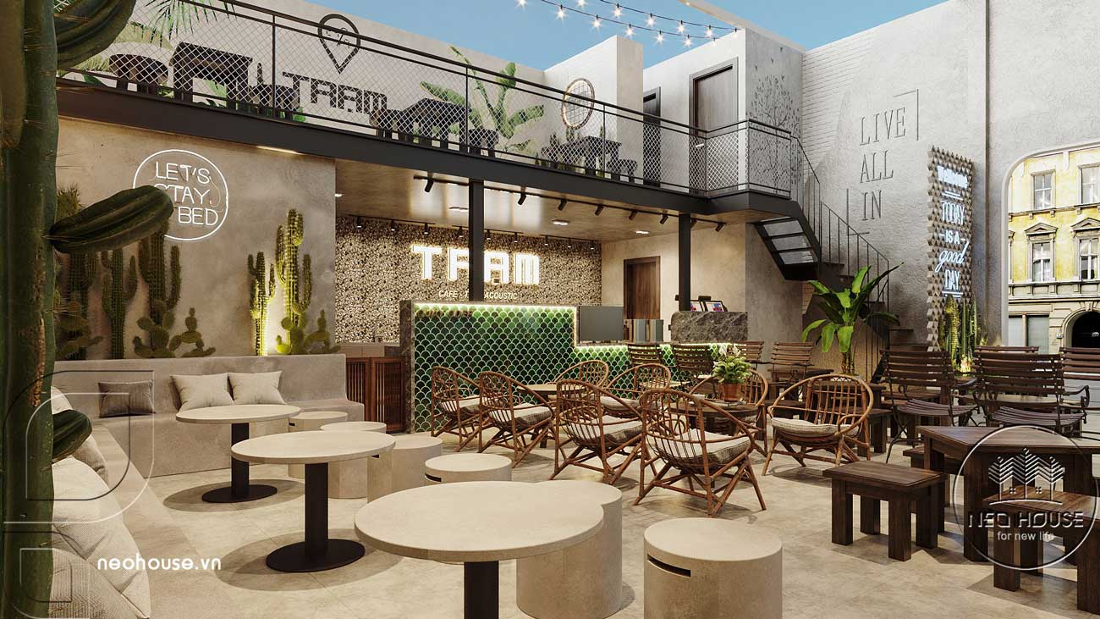 Thiết kế quán cafe sân vườn đơn giản. Ảnh 5