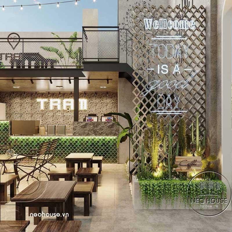 Thiết kế quán cafe sân vườn đơn giản. Ảnh 6