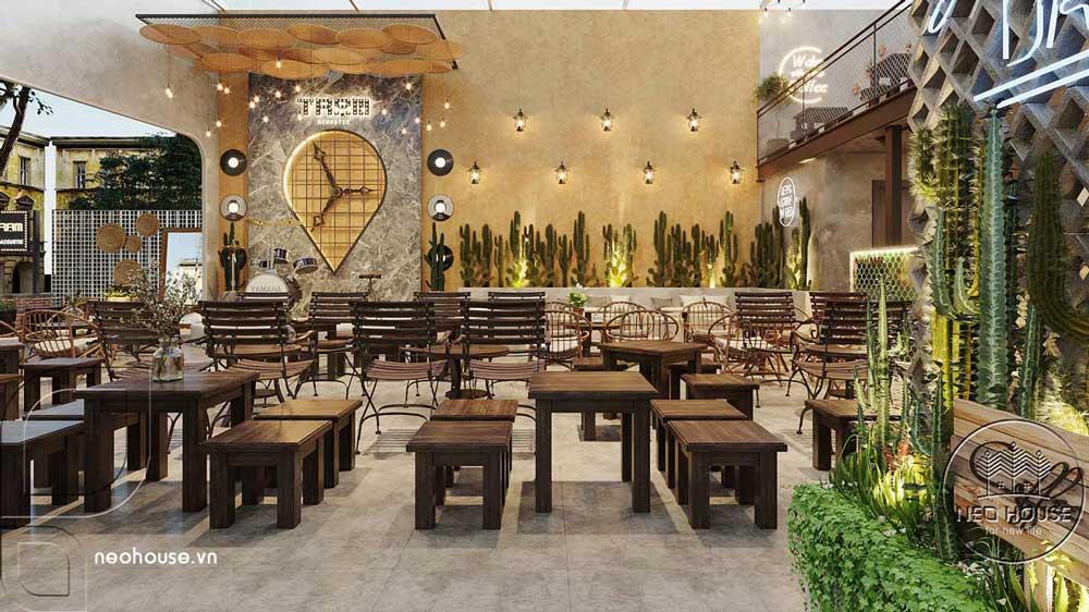 Thiết kế quán cafe sân vườn đơn giản. Ảnh 7
