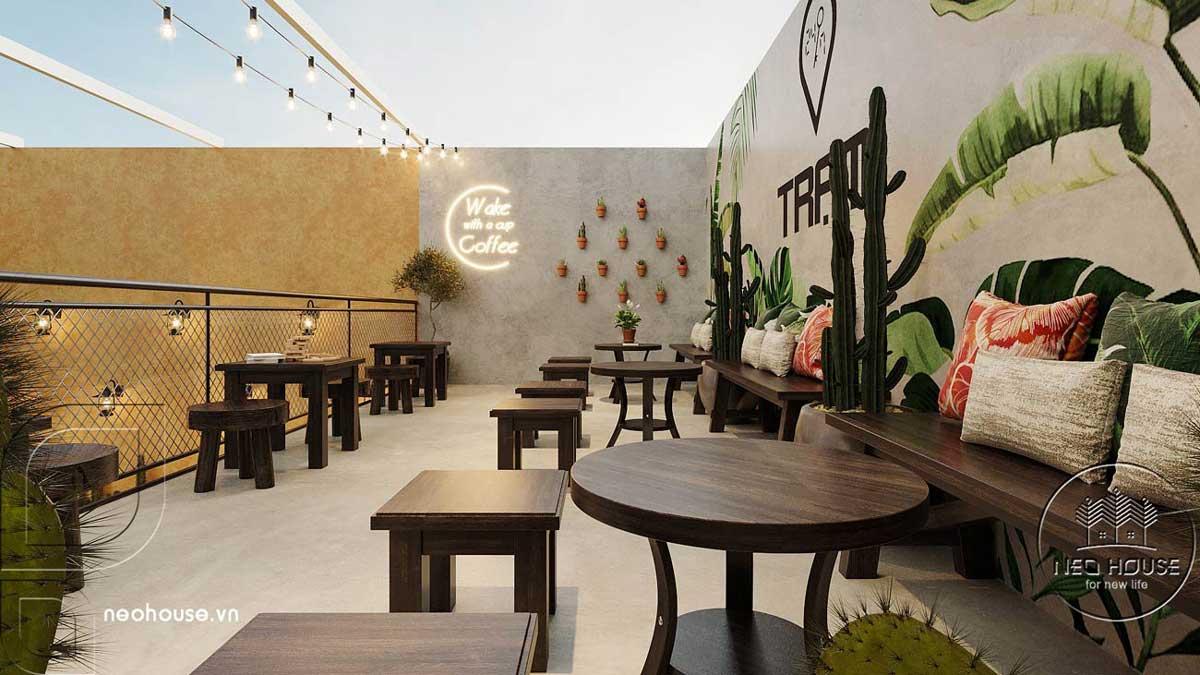 Thiết kế quán cafe sân vườn đơn giản. Ảnh 8