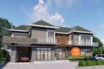 Mẫu Nhà Biệt Thự 2 Tầng Mái Thái 6 Phòng Ngủ 23x10m Tại Đồng Nai – BTV29