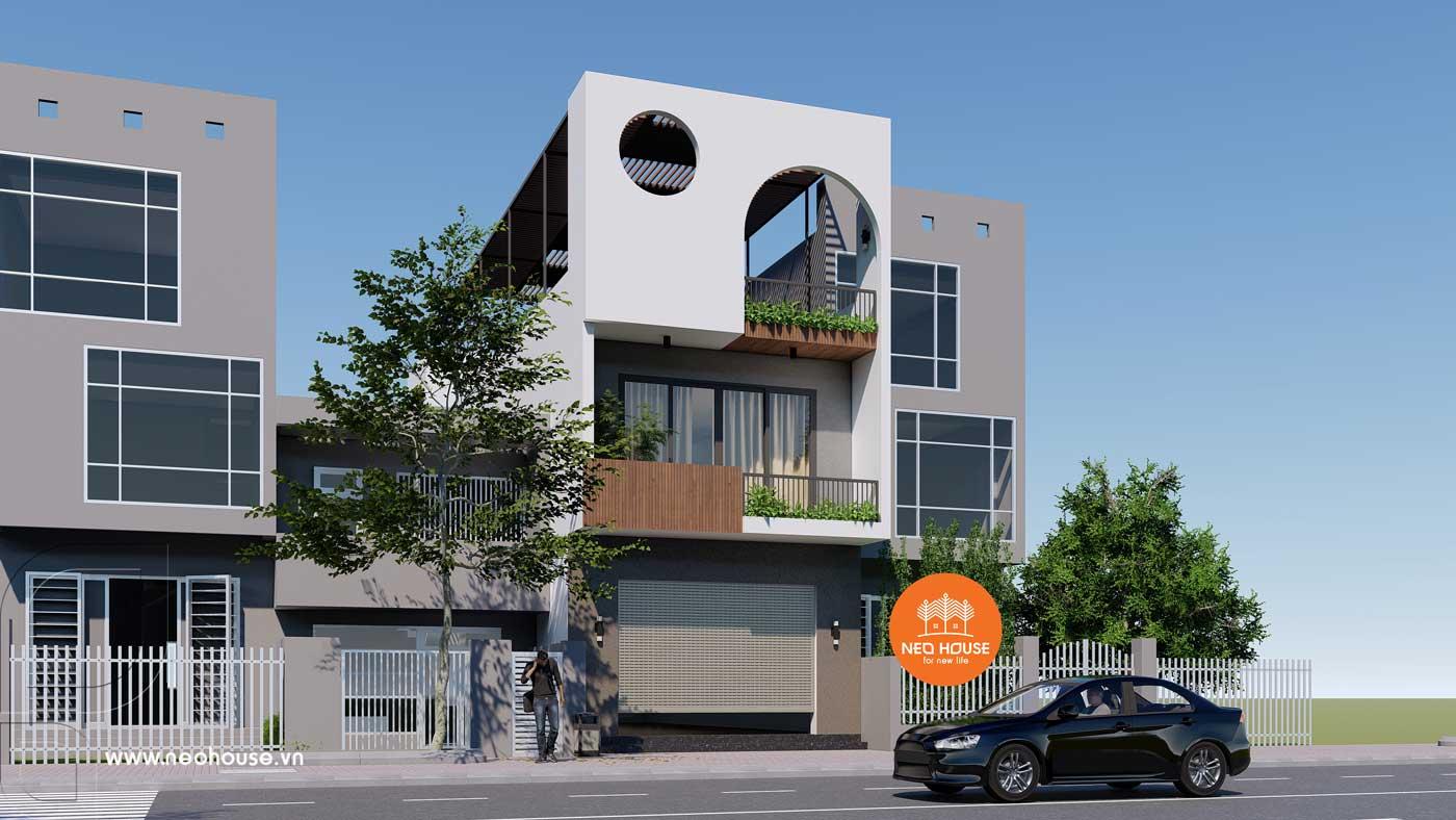 Phương án 1: mẫu nhà phố 3 tầng đẹp hiện đại. Ảnh 2