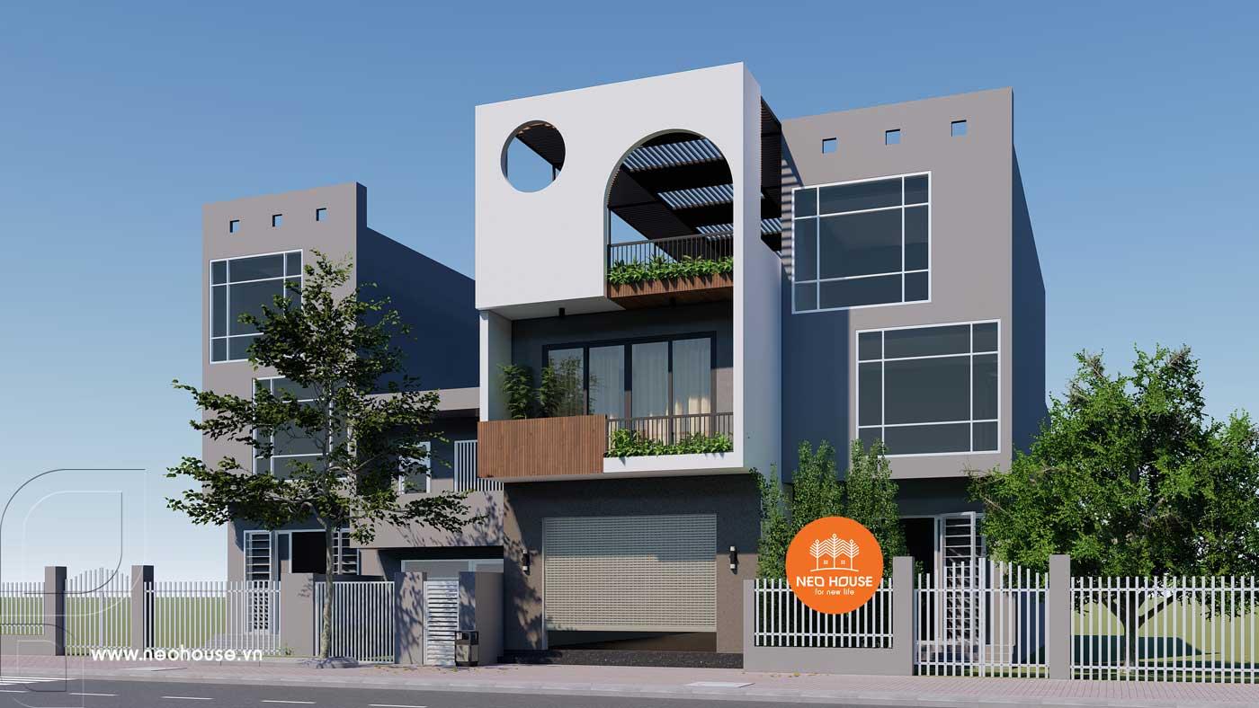 Phương án 1: mẫu nhà phố 3 tầng đẹp hiện đại. Ảnh 3