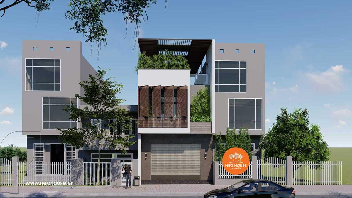 Phương án 2: mẫu nhà phố 3 tầng đẹp hiện đại. Ảnh 1