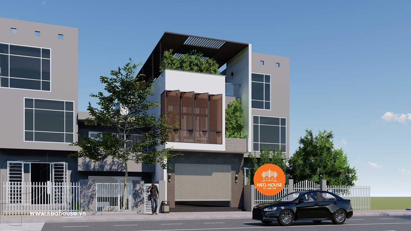 Phương án 2: mẫu nhà phố 3 tầng đẹp hiện đại. Ảnh 2