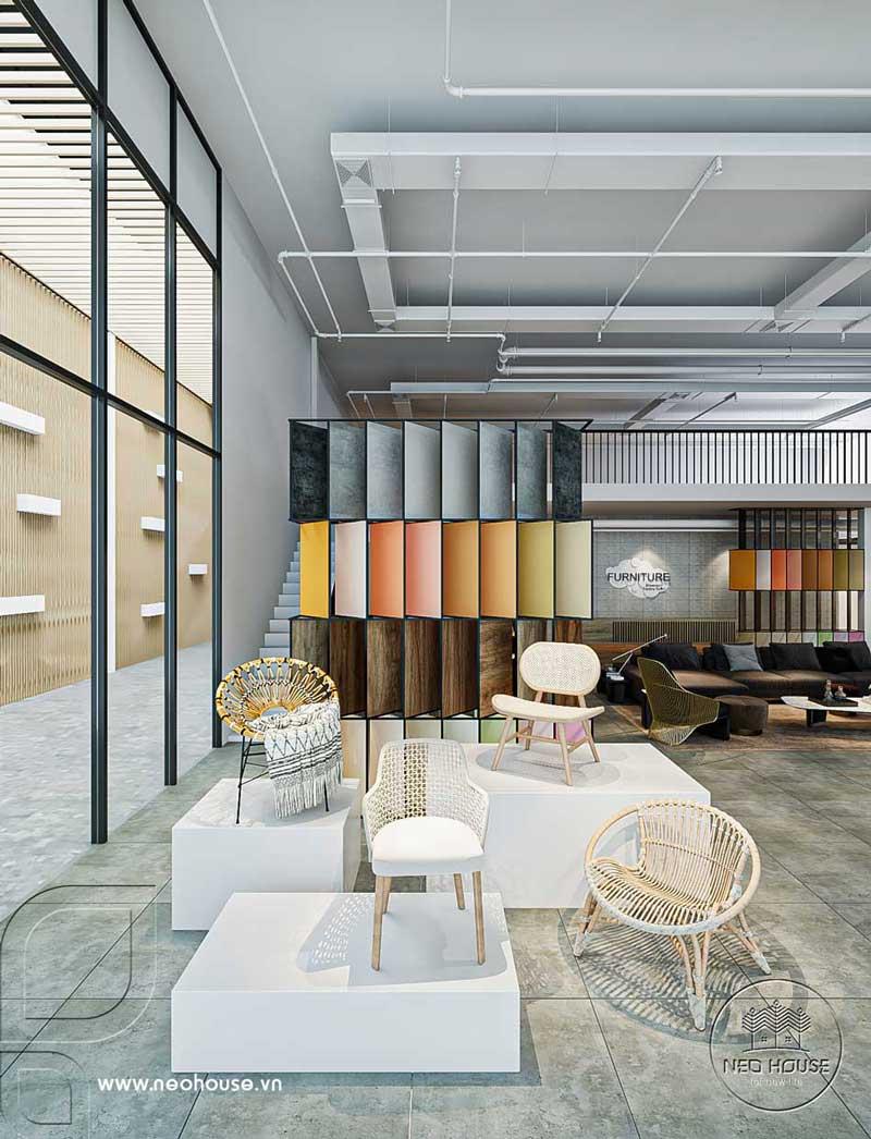 Thiết kế nội thất showroom cửa hàng đẹp. Ảnh 2