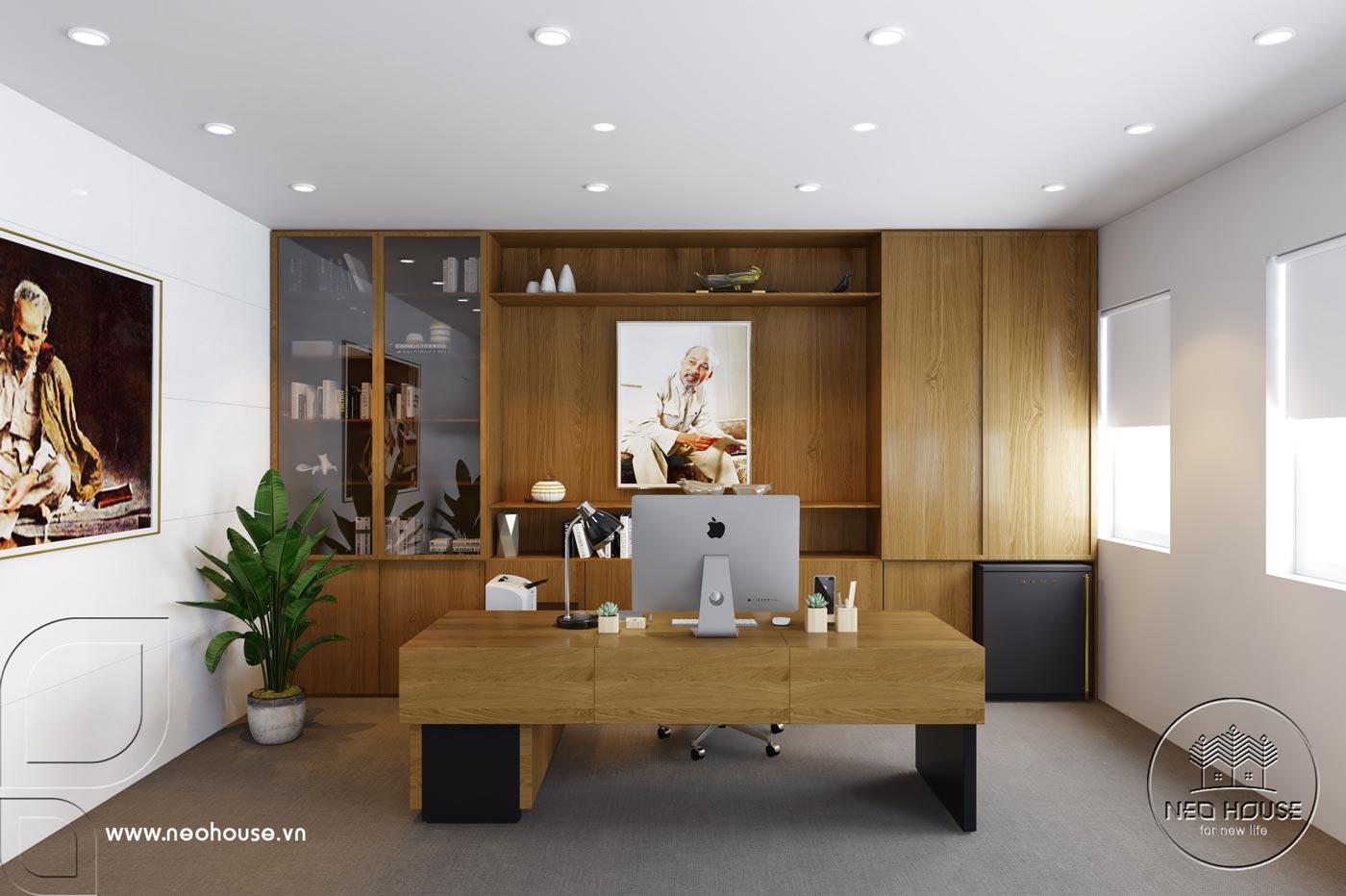 Thiết kế văn phòng làm việc chủ tịch. Ảnh 1