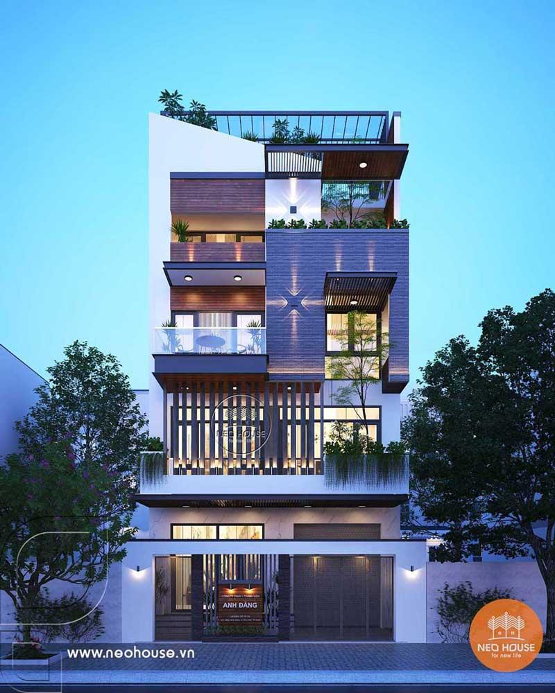 Mẫu nhà phố hiện đại 4 tầng 8x16m tại HCM