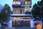 Mẫu Biệt Thự Phố Mặt Tiền 8m Kết Hợp Kinh Doanh Văn Phòng – NP42