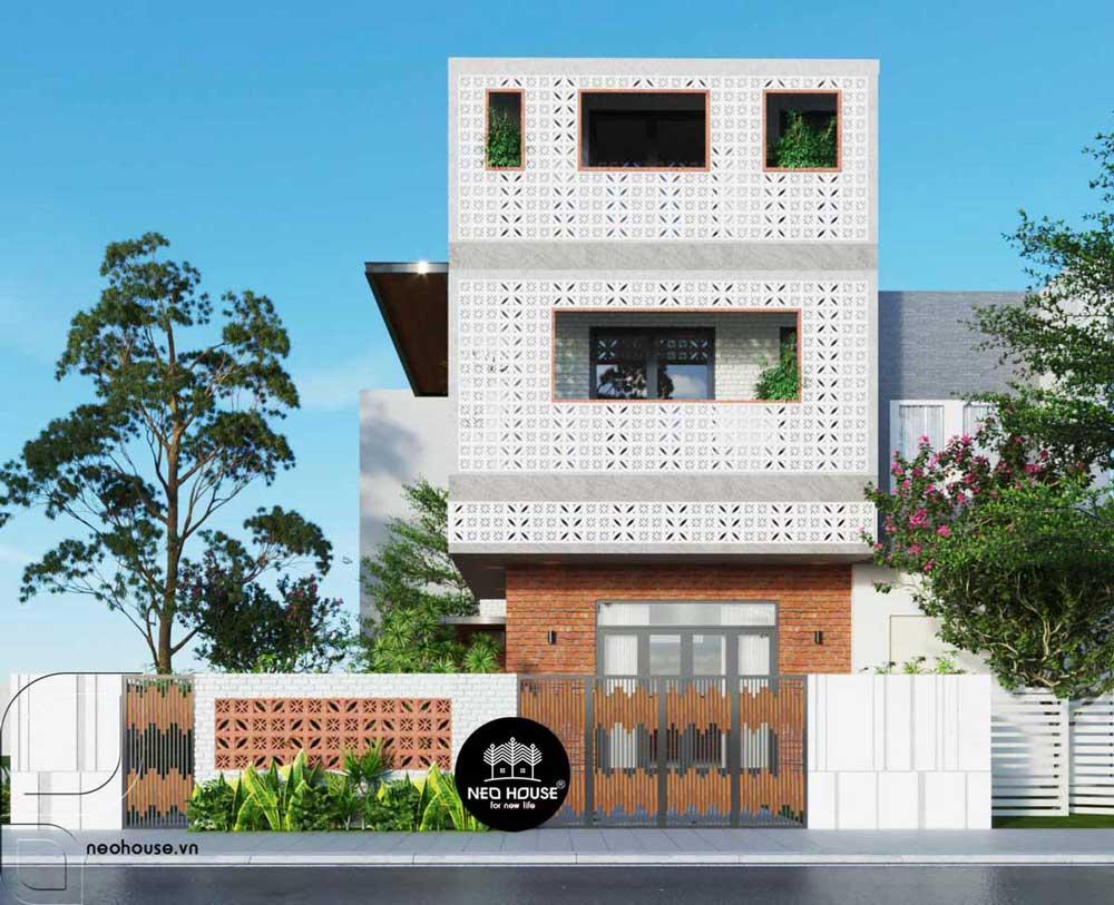 Thiết kế biệt thự mini 3 tầng 100m2. Ảnh 1