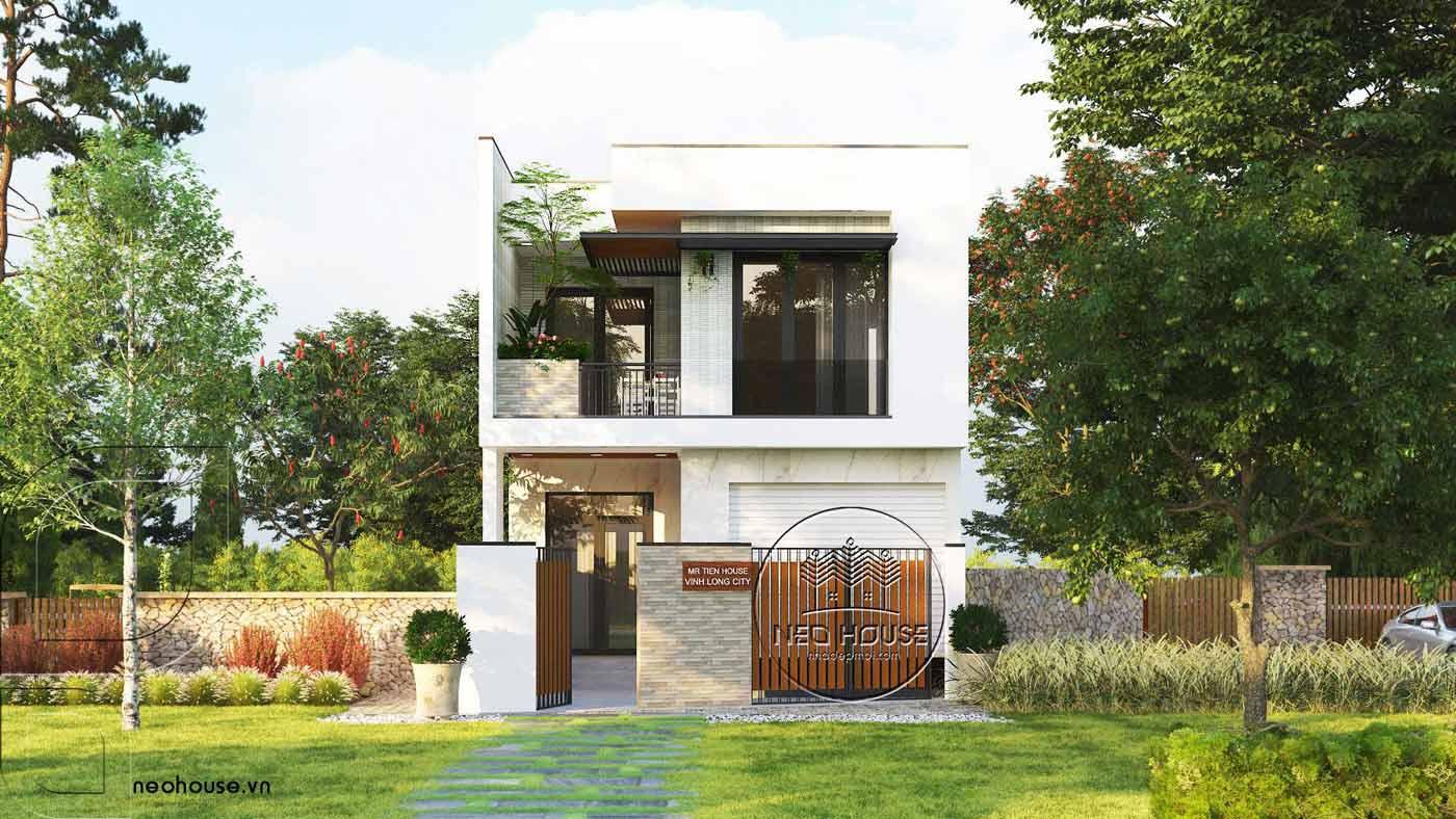 Mẫu thiết kế nhà ống 2 tầng 3 phòng ngủ 5x20m tại Vĩnh Long