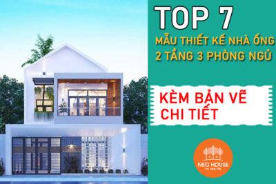 Top 7 Mẫu Thiết Kế Nhà Ống 2 Tầng 3 Phòng Ngủ Hiện Đại 2021