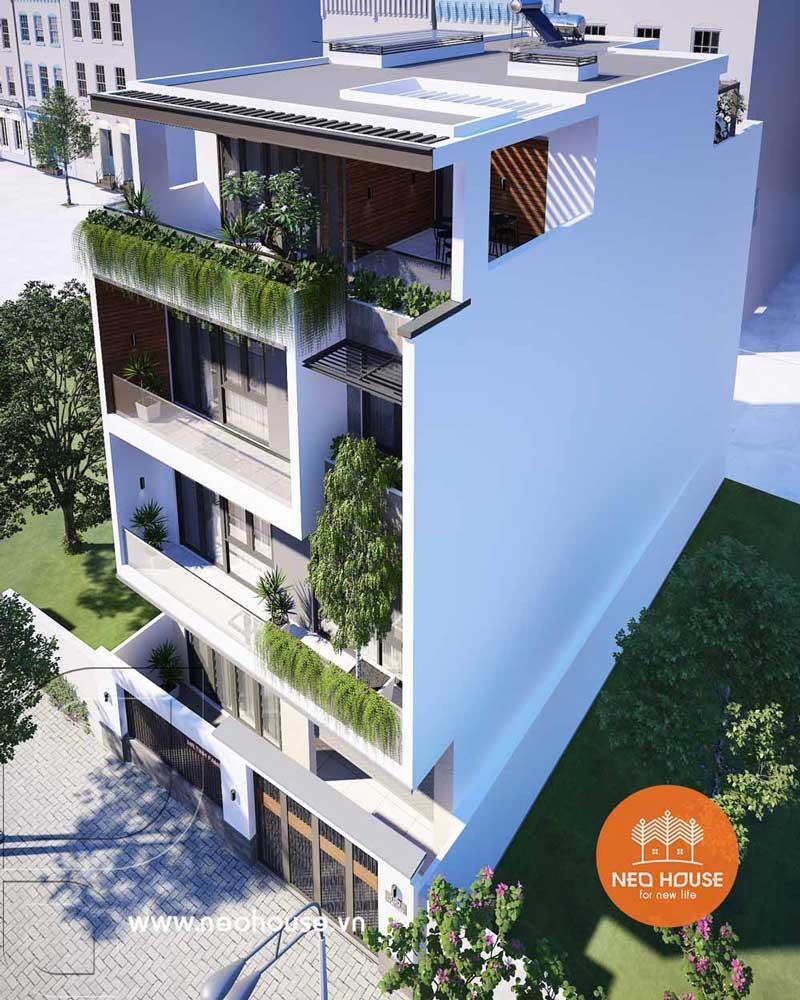 Mẫu nhà phố mặt tiền rộng 8m 3 tầng 1 tum. Ảnh 2