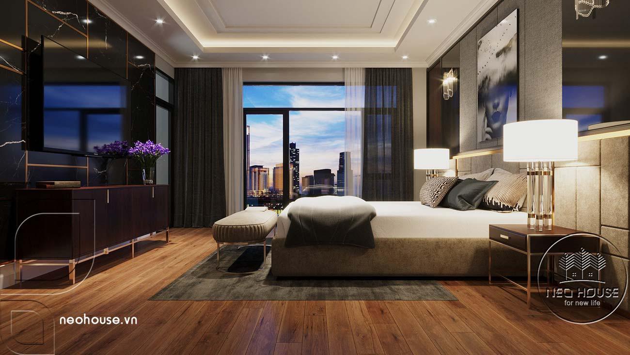 Thiết kế nội thất mẫu nhà phố mặt tiền rộng 8m. Ảnh 4