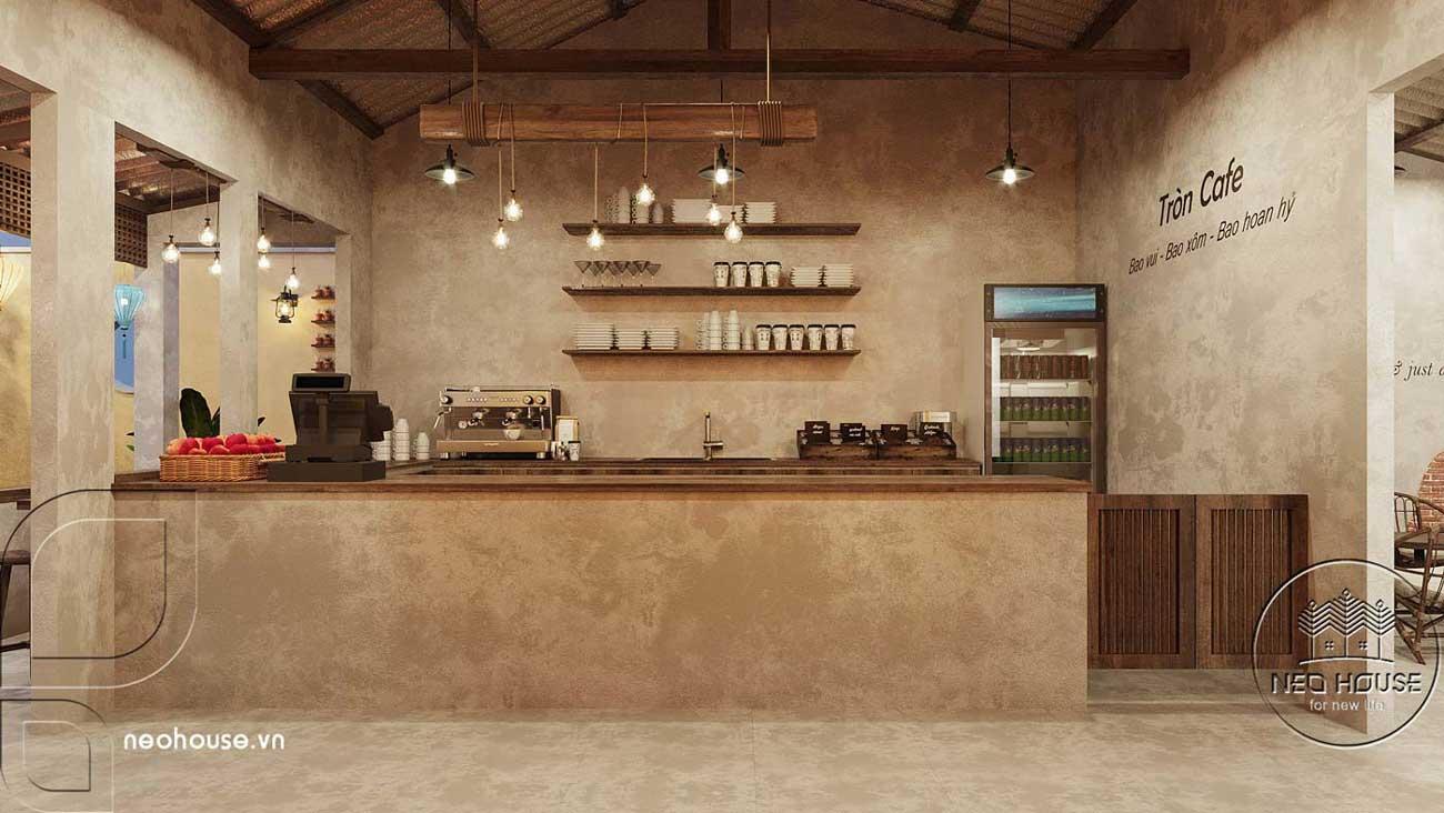 Thiết kế quán cà phê sân vườn 14x45m pha chút nét cổ Hội An. Ảnh 7