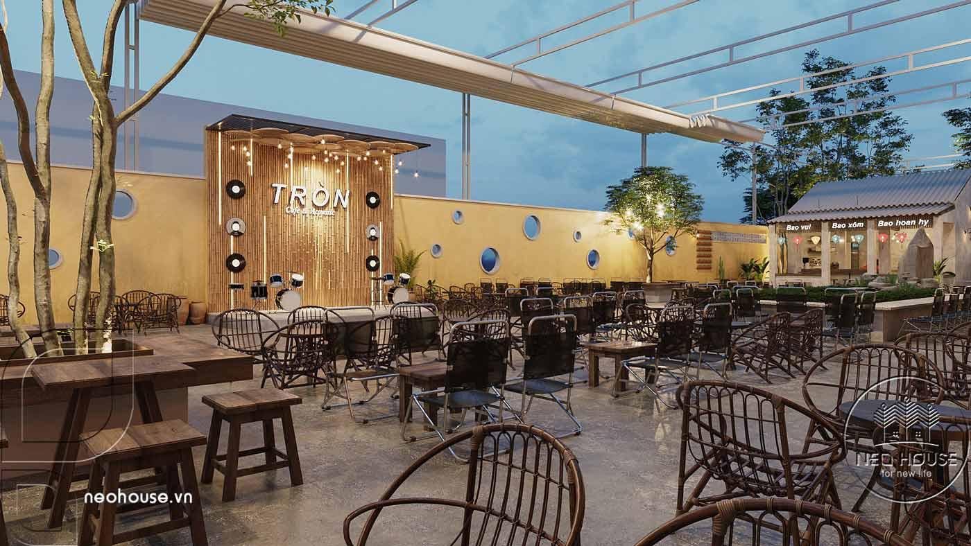 Thiết kế quán cà phê sân vườn 14x45m pha chút nét cổ Hội An. Ảnh 4