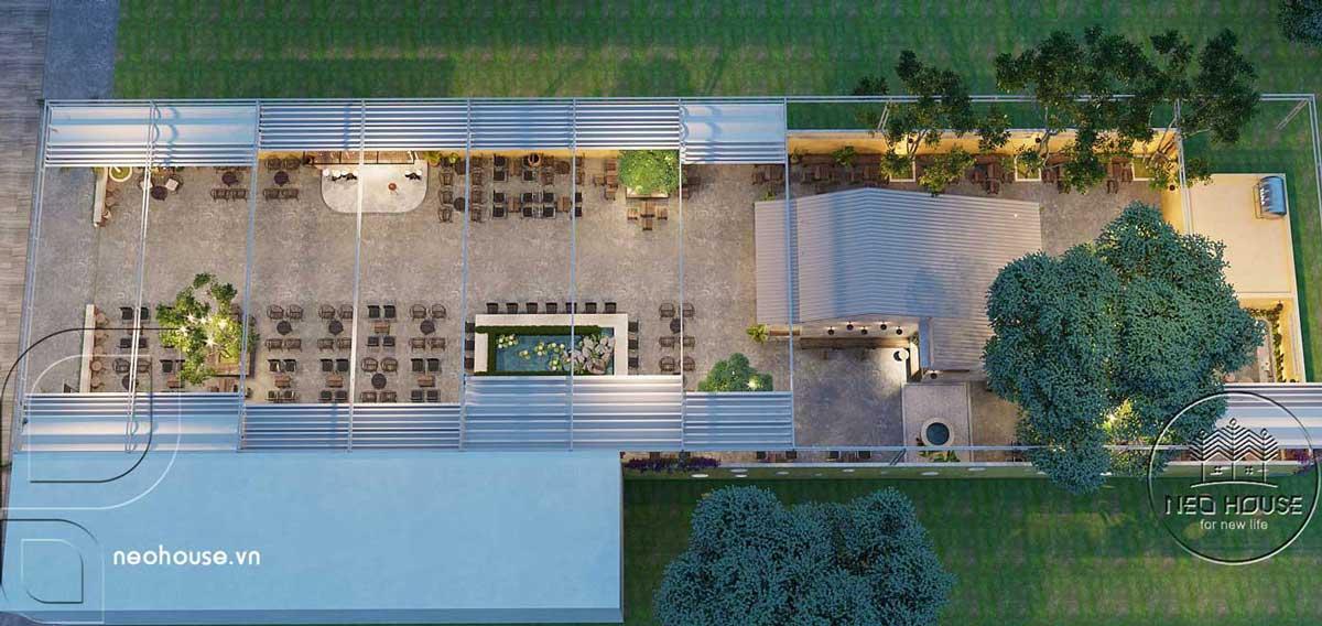 Thiết kế quán cà phê sân vườn 14x45m pha chút nét cổ Hội An. Ảnh 12