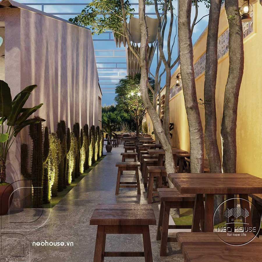 Thiết kế quán cà phê sân vườn 14x45m pha chút nét cổ Hội An. Ảnh 8