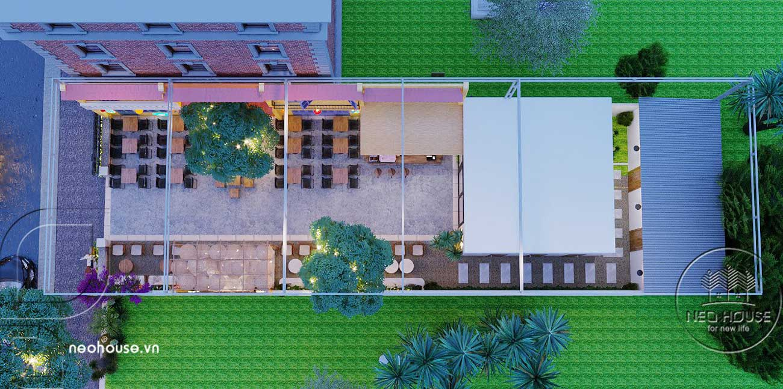 Thiết kế và thi công quán cafe sân vườn trọn gói tại Bình Phước. Ảnh 15