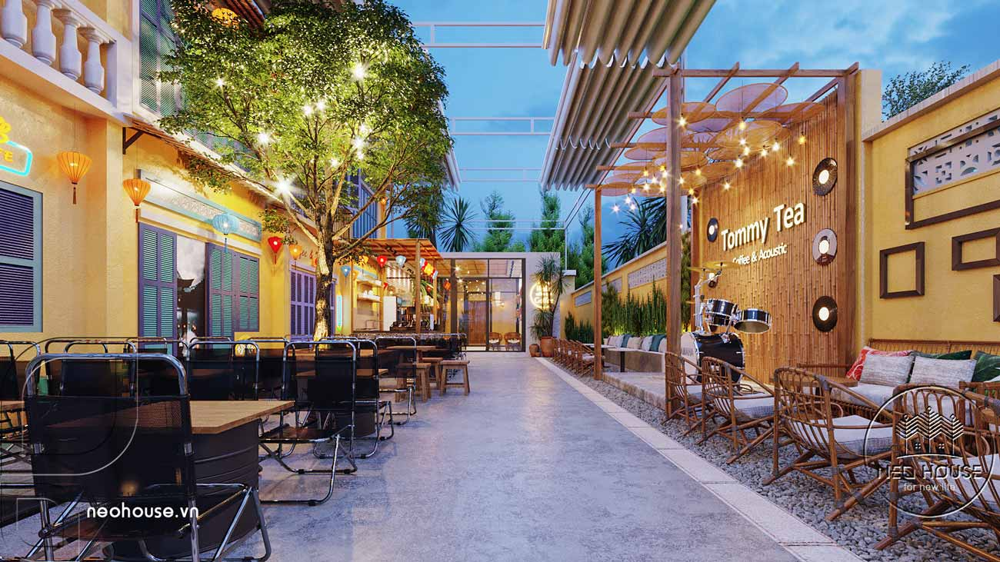 Thiết kế và thi công quán cafe sân vườn trọn gói tại Bình Phước. Ảnh 2