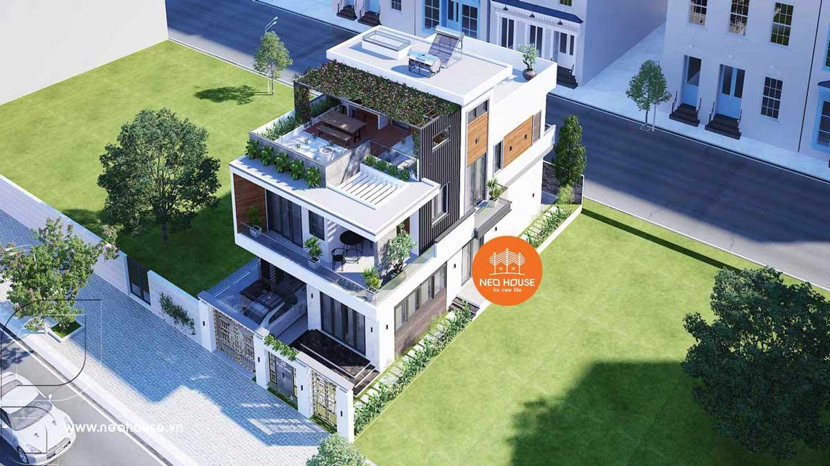 Thiết kế biệt thự phố 2 tầng hiện đại. Ảnh 6