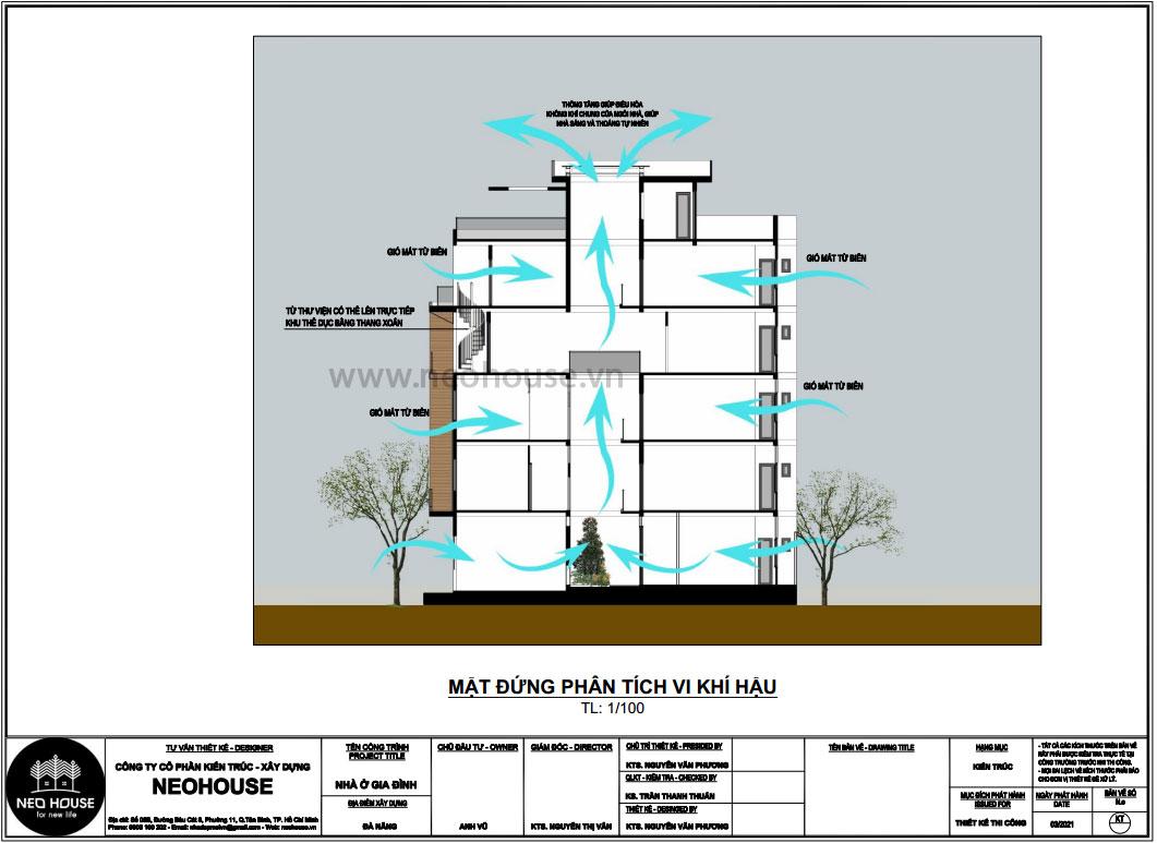 Mặt bằng phân tích vi khí hậu thiết kế nhà phố chiều rộng 7m 1