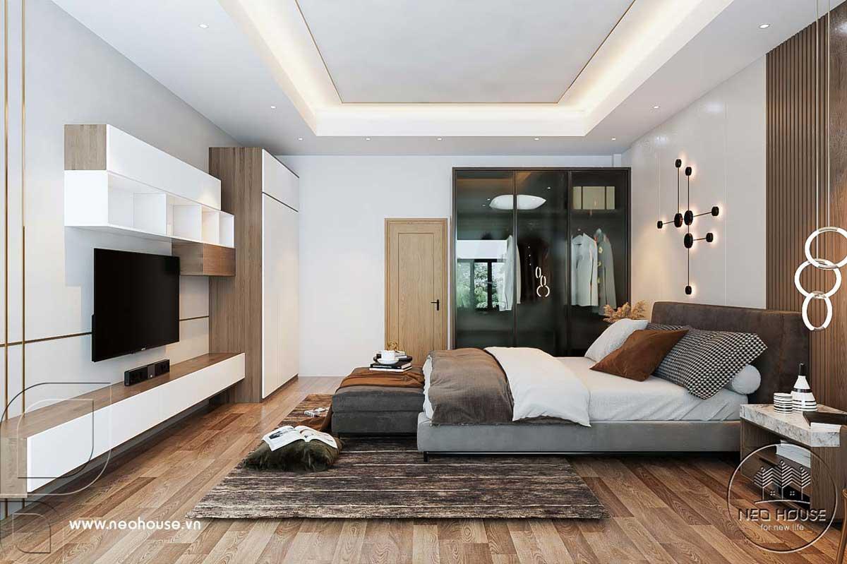 Nội thất nhà phố 5m với không gian phòng ngủ Master. Ảnh 2