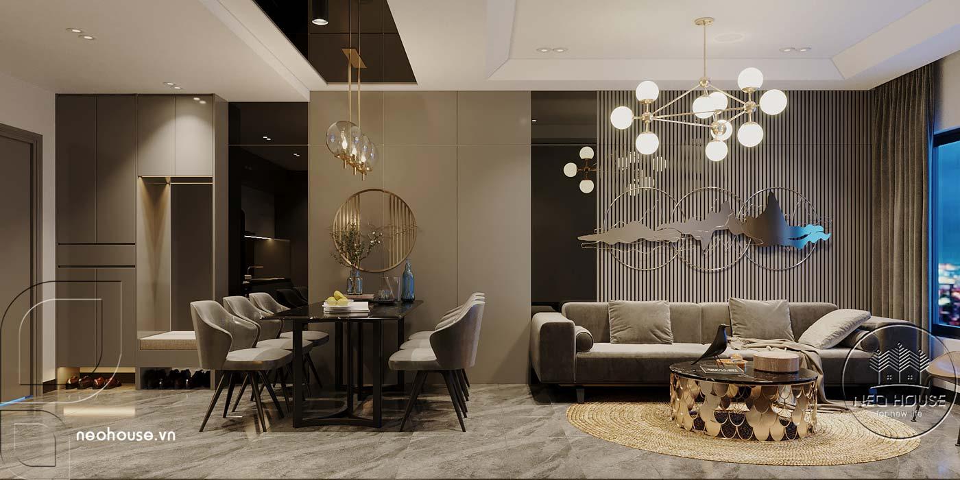 Thiết kế căn hộ 2 phòng ngủ Topaz Elite. Ảnh 1
