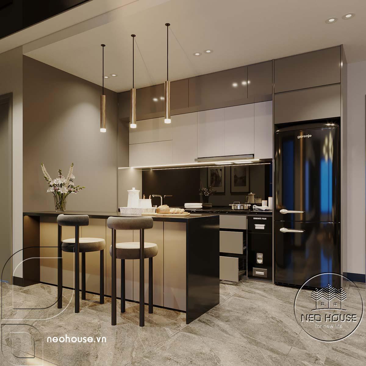 Thiết kế căn hộ 2 phòng ngủ Topaz Elite. Ảnh 4