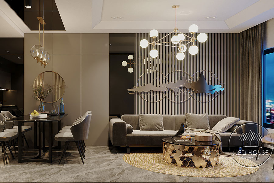 thiết kế căn hộ 2 phòng ngủ Topaz Elite. Ảnh bìa