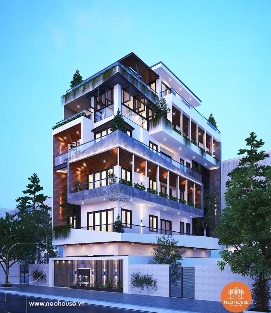 Mẫu thiết kế nhà phố chiều rộng 7m. Ảnh 1